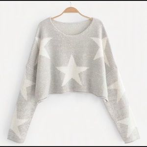 NWOT star cropped sweater
